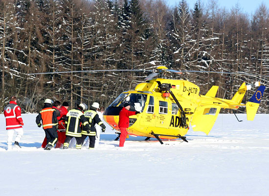 Joint forces in a winter rescue mission