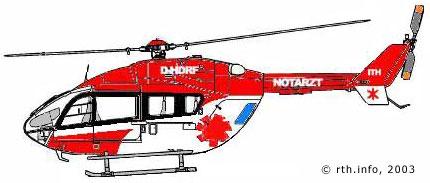 Etwa so wird die EC 145 des Team DRF aussehen