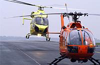 Christoph 9 und Lifeliner 3 am Airport Niederrhein