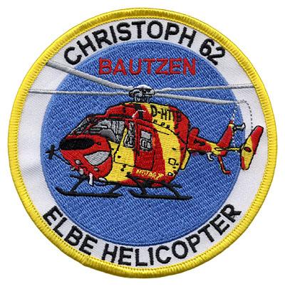 Der neue Aufnäher, entwickelt von BK-Helicopter- Patch-Design und dem LRZ Bautzen