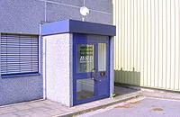 Der Eingang des Dortmunder Luftrettungszentrums.