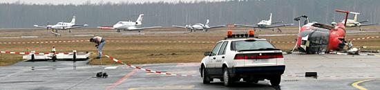 Der Flugverkehr musste zeitweise eingestellt werden