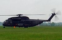 Auch vor Ort sein werden zwei solch große Hubschrauber der Heeresflieger: CH 53 G.