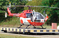Vermutlich betroffen: Christoph 43 aus Karlsruhe, 25 km westl. v. Pforzheim