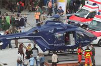 EC 135 der Bundespolizei an der BGU