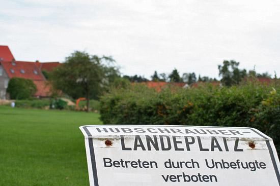 Baumfällarbeiten am Hubschrauberlandeplatz Wolfenbüttel