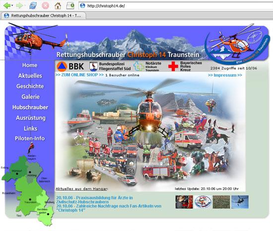 Die Webseite von Christoph 14 (im Mozilla Firefox)