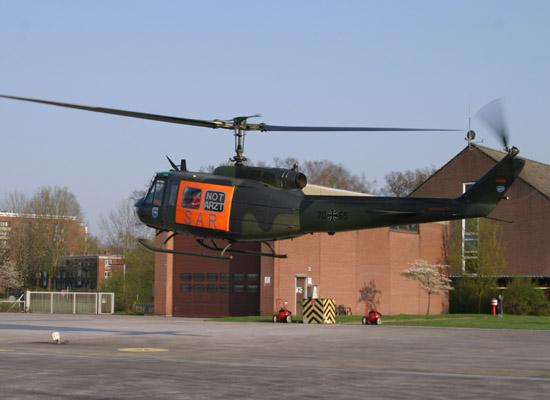 """""""Damals"""" bei einer Landung am Rettungszentrum"""