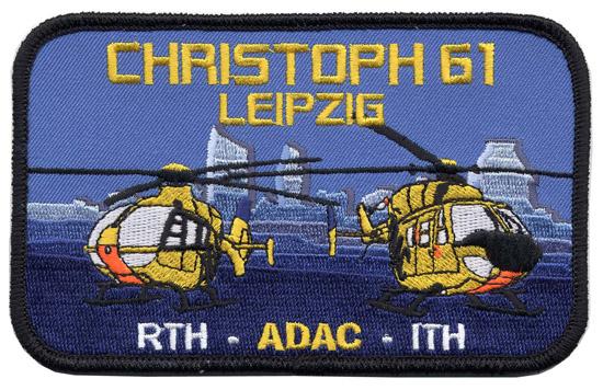 Aufnäher des ADAC-Luftrettungszentrums Leipzig