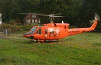 Christoph 29 bei einem Einsatz in Hamburg