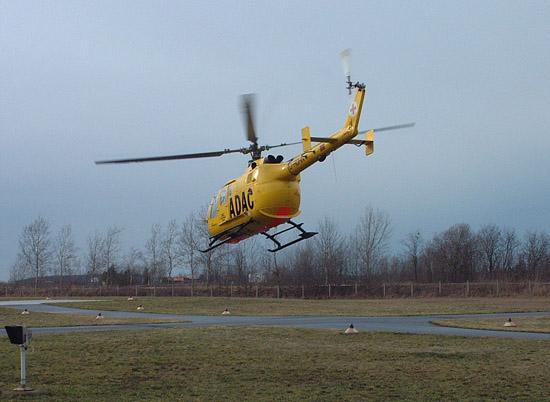 Letzter Start einer BO 105 der ADAC Luftrettung GmbH vom Luftrettungszentrum Senftenberg. Eine Ära geht zu Ende