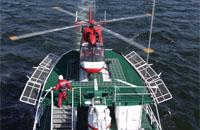 Wasserrettungs-Übung 2005 mit dem Rettungskreuzer der DGzRS