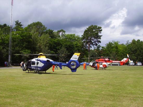 Polizei-Hubschrauberstaffel Brandenburg mit einer EC 135 zu Gast
