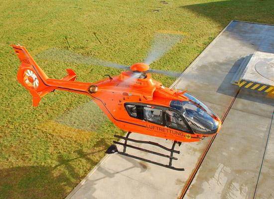 Der neue Hubschrauber ist vom Typ EC 135 T2i