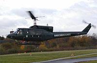Die D-HEPP flog oft aushilfsweise in der Luftrettung; hier als Demonstrator in Bremen