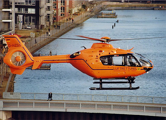 """Der neue """"Christoph 9"""" mit dem Typ EC 135 ..."""