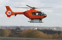 """und die """"neue"""" EC 135 in der Luft"""