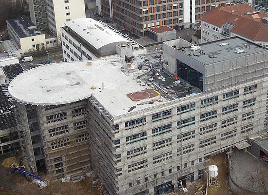 Aktuelles Luftbild des Baufortschritts am Uniklinikum Mainz