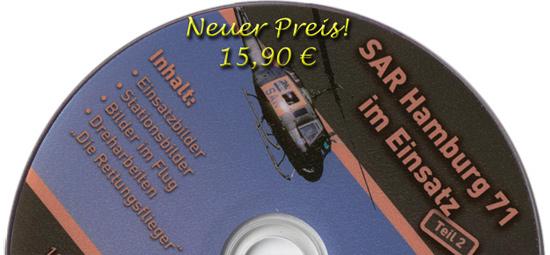 """Foto-DVD """"SAR Hamburg 71 im Einsatz"""" (die Preisangabe ist per EDV ergänzt und steht nicht auf dem Label)"""
