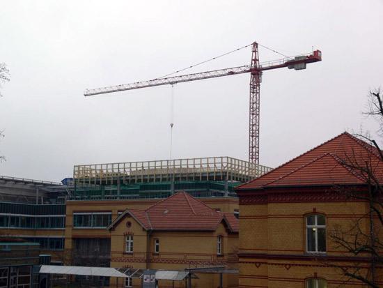 Hangar im Bau