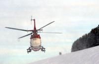 BChristoph 11 mit BO 105 im Winter 2009 bei einem Einsatz mit der Bergwacht