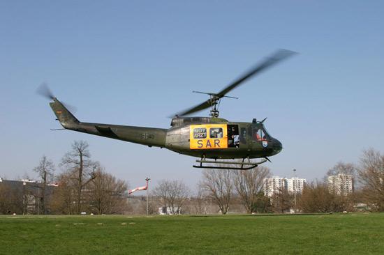 Der SAR 71 aus Hamburg, bis Anfang 2006 mit der Bell UH-1D im Einsatz, und unzweifelhaft der bekannteste SAR-Standort