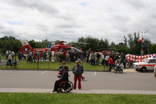 Trotz mäßig schönen Wetter waren viele Besucher bei den  Zwickauer Luftrettern