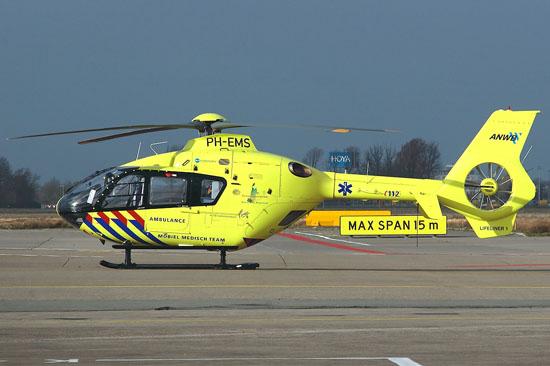 """Neuer Lifeliner """"PH-EMS"""" in Schiphol"""