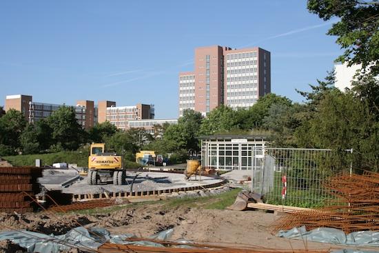 Baustelle am Gastlandeplatz