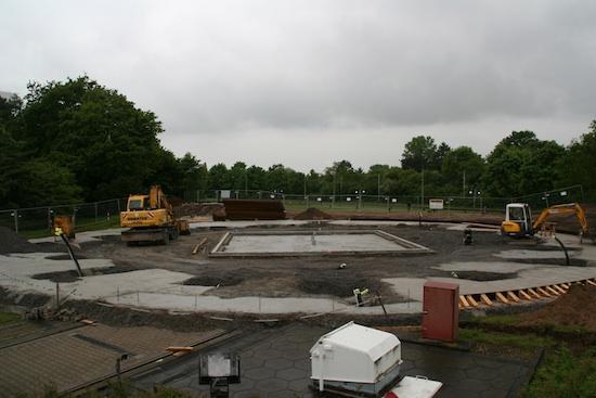 Baustelle am Gastlandeplatz; das Bild zeigt den Stand zum 13.05.2010