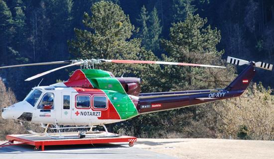"""Archivfoto der betroffenen Bell 412 """"OE-XYY"""""""