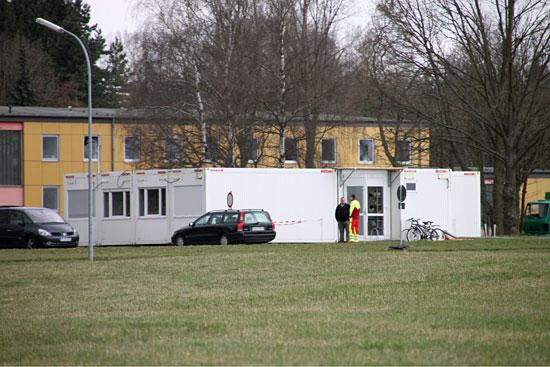 """Interimsstation des Kasseler Rettungshubschraubers """"Christoph 7"""" in Fuldatal bei der Bundespolizei"""