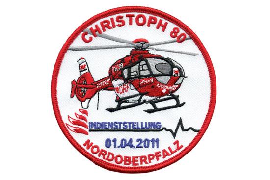Aufnäherscan Stationsgründung Christoph 80, Weiden