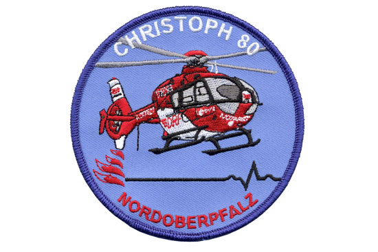 Aufnäherscan Stations-Patch Christoph 80, Weiden