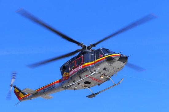 Bell 412 der HDM Luftrettung, hier Christoph Nürnberg in Würzburg