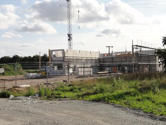 Baustelle - Zügig gehen die Bauarbeiten an der neuen Station voran