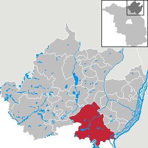 Lage von Angermünde im Landkreis und im Land Brandenbrug