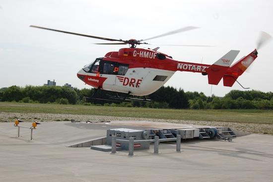 """Luftrettungsmittel """"Christoph 51"""" an seinem Standort Kornwestheim-Pattonville"""
