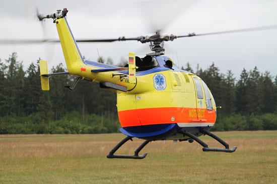 """""""Kuno SH-01"""" im Flugbetrieb am Tag der Indienststellung"""