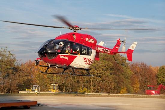 Eine EC 145 der DRF Luftrettung