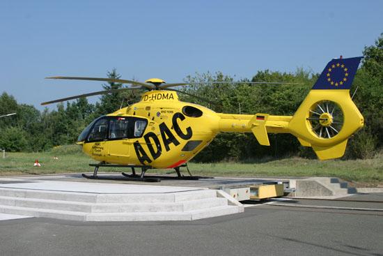 ... neu in Dienst gestellt wurde daraufhin die EC 135, mit der die Station bis heute ausgestattet ist