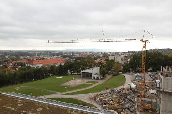 Die Bauarbeiten am Klinikum haben bereits begonnen