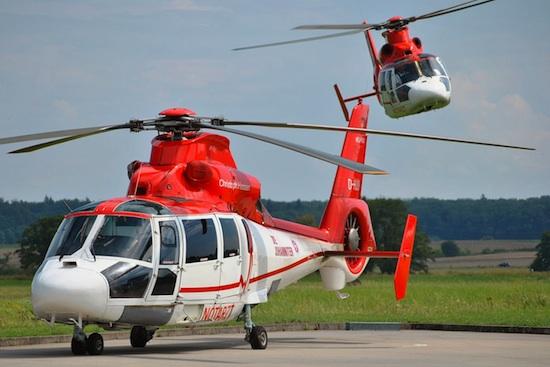 Archivbild von 2 Helikoptern am Standort des Christoph Hessen