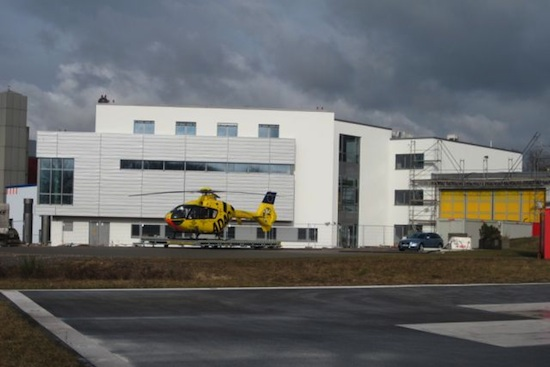 Das fertig umgebaute Luftrettungszentrum Winterberg/Saarbrücken