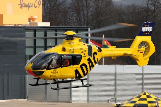 Maschine D-HECT beim Hersteller Eurocopter Deutschland vor der Auslieferung