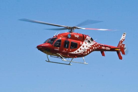 Das Modell beruht auf der Bell 427, verfügt jedoch über eine größere Kabine mit bis zu acht Sitzplätzen