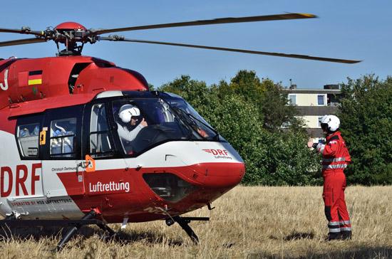 """""""Christoph Dortmund"""" im Einsatz, bereits auf der Seitentür erkennbar: der neue QR-Code"""