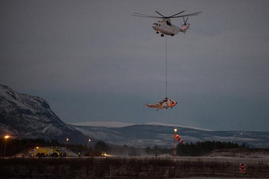 Die Mil Mi-26 kann bis zu 20 Tonnen heben und gehört damit zu den weltweit leistungsstärksten Hubschraubern