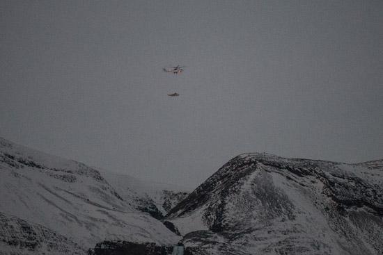Die Firma ACS organisierte und führte die Rettung des Hubschraubers durch