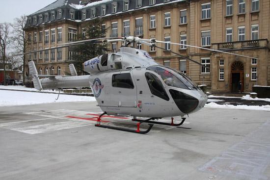 Trägt seit Kurzem ein neues Farbkleid: die von der LAR eingesetzte LX-HPG vom Typ MD 902 Explorer